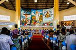 Celebration for the 20th anniversary of Radio Maria in Cristo Risorto de Hedzranawoe Catholic parish church, Lome, Togo, West Africa, Africa