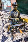 Statue of Portuguese poet, Fernando Pessoa, Lisbon, Portugal.