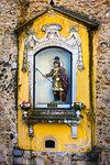 Miniature statue of St George, Lisbon, Portugal.