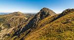 Mountain Landscape. Chopok Mount with Dumbier Mount in Background. Low Tatras, Slovakia.