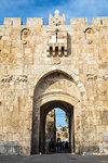 St. Stephen's Gate (The Lion Gate), Old City, UNESCO World Heritage Site, Jerusalem, Israel, Middle East