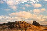Isalo National Park landscape at sunrise, Ihorombe Region, Madagascar, Africa