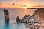 Sunset at Colonne di Carloforte, San Pietro Island, Sud Sardegna province, Sardinia, Italy, Mediterranean, Europe