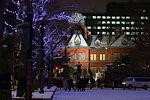 Former Hokkaido Government Office at Night, Hokkaido, Japan