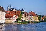 Surroundings of the old slaughterhouse, Bamberg, UNESCO World Heritage Site, Bavaria, Germany, Europe