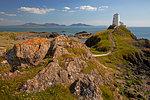 Twr Mawr Lighthouse on Llanddwyn island, Anglesey, North Wales, United Kingdom, Europe