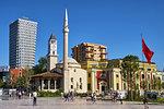 Etehem Bey Mosque, Skanderbeg Square, Tirana, Albania, Europe
