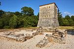 Venetian tower, Ruins of the Greek city, Butrint, UNESCO World Heritage Site, Vlore Province, Albania, Europe