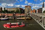 Fubganger Bridge, HafenCity, Hamburg, Germany, Europe