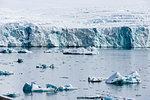 Coastal landscape with sea ice, Isbjornhamna, Hornsund bay, Spitsbergen, Svalbard, Norway
