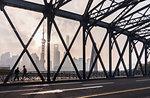 Waibaidu Bridge and Pudong skyline, Shanghai, China