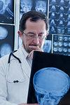 Doctor examining Xray image
