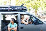 Friends going on surfing trip, Pagudpud, Ilocos Norte, Philippines