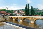 Seher-Cehaja Bridge in Sarajevo, Bosnia and Hercegovina, Europe