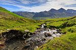 Stream in Hvanneyrarskal, Iceland, Europe