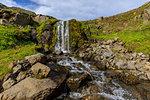 Waterfall in Hvanneyrarskal, Iceland, Europe