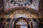 Wall murals in the Bachkovo Monastery, Rhodope mountains, Bulgaria, Europe