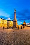 Tsarina's Stone at sunset in Helsinki, Finland, Europe