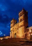 La Inmaculada Concepcion Cathedral at dusk, Barichara, Santander Department, Colombia, South America