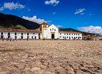 Our Lady of the Rosary Church, Plaza Mayor, Villa de Leyva, Boyaca Department, Colombia, South America