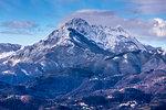 La Pania della Croce, Winter snow, Tuscany, Italy, Europe
