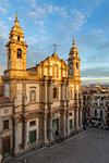 San Domenico Convent at last sunlight, Palermo, Sicily, Italy, Europe