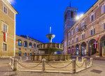Piazza Centrale (Platea Magna), Fabriano, Ancona, Marche, Italy, Europe,