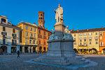 Piazza Cavour, Vercelli, Piedmont, Italy, Europe