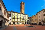 Piazza Palazzo Vecchio, Vercelli, Piedmont, Italy, Europe