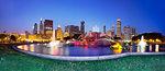 Buckingham fountain, Chicago, Illinois, United States of America, North America