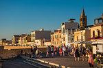 Tourists in the town of Alghero, Sardinia, Italy, Europe