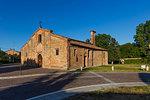 On the Fausto Coppi's roads, Romanesque Church of St. Peter, Volpedo, Tortona area, Alessandria, Piedmont, Italy, Europe
