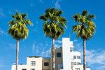 Art Deco architecture on Ocean Drive, South Beach, Miami Beach, Florida, United States of America, North America