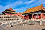 Zhendu gate and the Gate of Supreme Harmony, Forbidden City, Beijing, China, East Asia