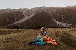 Mother and baby enjoying wilderness, Wanaka, Taranaki, New Zealand