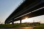 Bridge over park in Malmo, Sweden