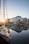 Marina in Malmo, Sweden at sunrise