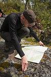 Man looking at map