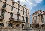 Square in old part of town, Split, Dalmatian Coast, Splitsko-Dalmatinska, Croatia
