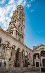 Saint Domnius Cathedral in town, Split, Dalmatian Coast, Splitsko-Dalmatinska, Croatia