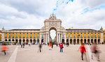 Triumphal Arch, Praça do Comércio, Lisbon, Portugal