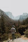 Hiker exploring nature reserve, Yosemite National Park, California, United States