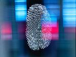 Finger print on digital screen being scanned