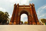 Tourist at The Arc de Triomf in Barcelona
