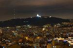 Cityscape with Collserola Towera at night