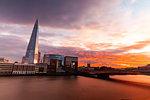 London cityscape with The Shard skyscraper