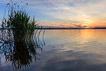 beautiful sunset in the Danube Delta, Romania