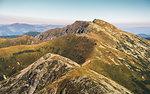 Low Tatras National Park Mountain Ridge. Way to Mount Dumbier.