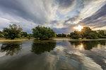 sunrise in the Danube Delta, Romania, Europe