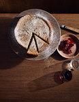 Baked wattleseed cheesecake, a bush tucker dish using indigenous ingredients
